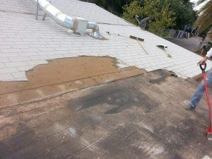 Roofing Case Study - Further exposure of damaged roof