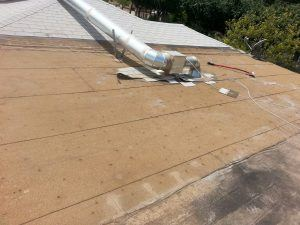 Roofing Case Study - Removing the remaining affected areas.